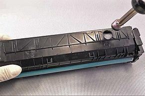 HP 410A  HP 410X Nachfüllloch einbrennen