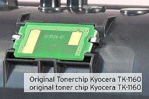 Kyocera TK-11160 Tonerchip auf der Kartusche