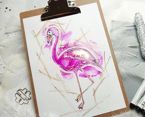 Alcohol Ink Pink Flamingo Alkoholtinte
