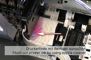 [Translate to Englisch:] Epson Druckertinte ausspülen Fortschritt
