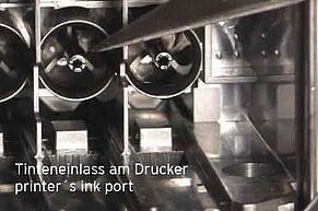 Ink port inside compartment for Brother inkjet cartridges