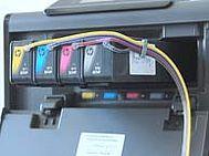 Inserimento delle cartucce HP 970 e HP 971