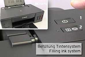 First fill ink system Canon CISS printer