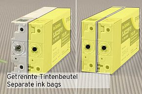 [Translate to Englisch:] Innenliegende Tintenbeutel Patronen Epson TM-C3500