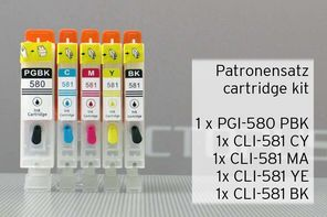 [Translate to Italienisch:] Bestandteile Satz befüllbare Patronen PGI-580 CLI-581