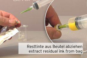 Absaugen der Resttinte aus Epson Tintenpatrone