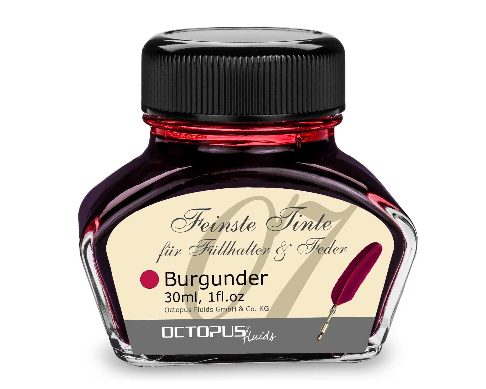 Füllhaltertinte, Schreibtinte für Füllhalter, Füllertinte Burgunder