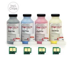 Farbtoner Komplettset für HP CP 4005 incl. Chips und Trichter