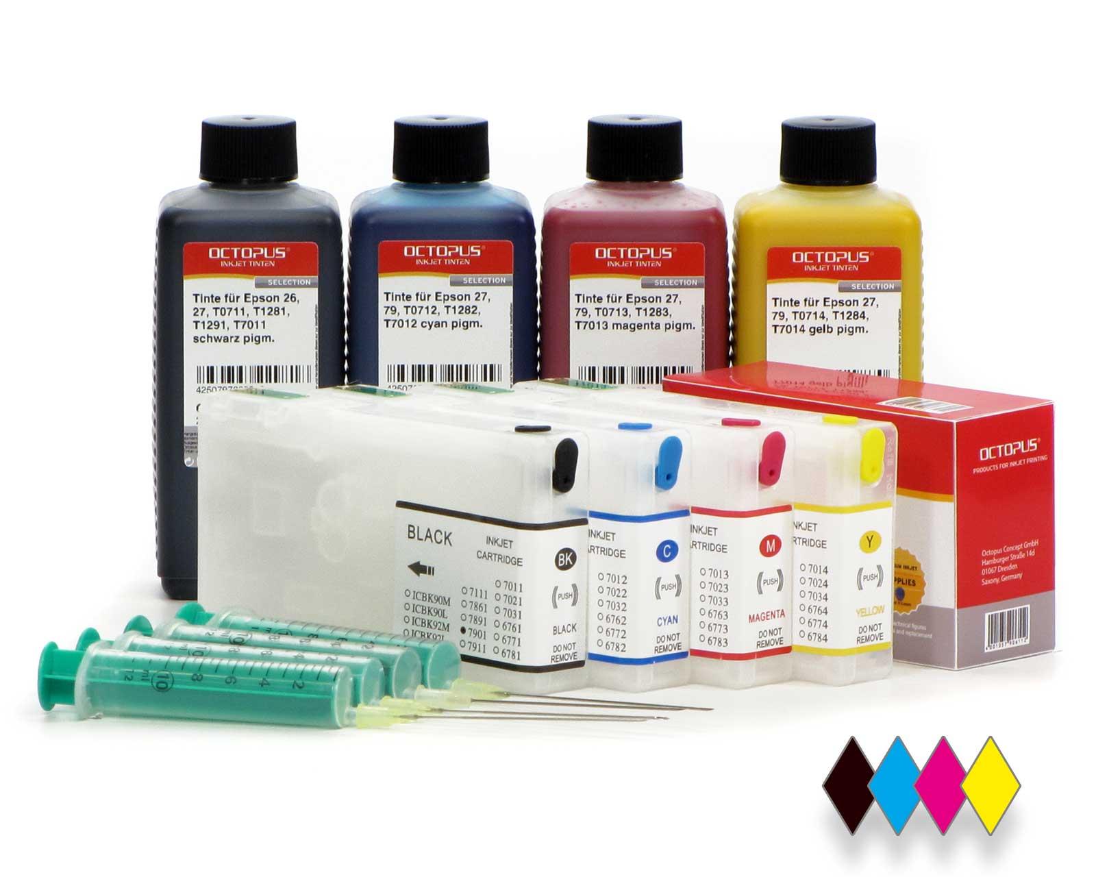 Cartucce Fill In per Epson 79 con chip Autoreset e 4x di inchiostro (no OEM)