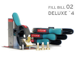 4x Fill Bill 02 incl. 4 fill cuffs, syringes and support