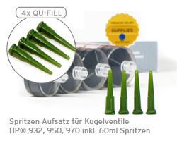 QU-FILL™ Spritzen-Aufsatz für Refill HP® 932, 950, 970, 953 mit Spritzen