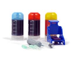 Refilladapter mit 3x20ml Tinte für Canon CL-511 und CL-513 color