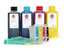 Fill In Patronen T0711, T0714 mit Tinte (kein OEM) ersetzt Epson