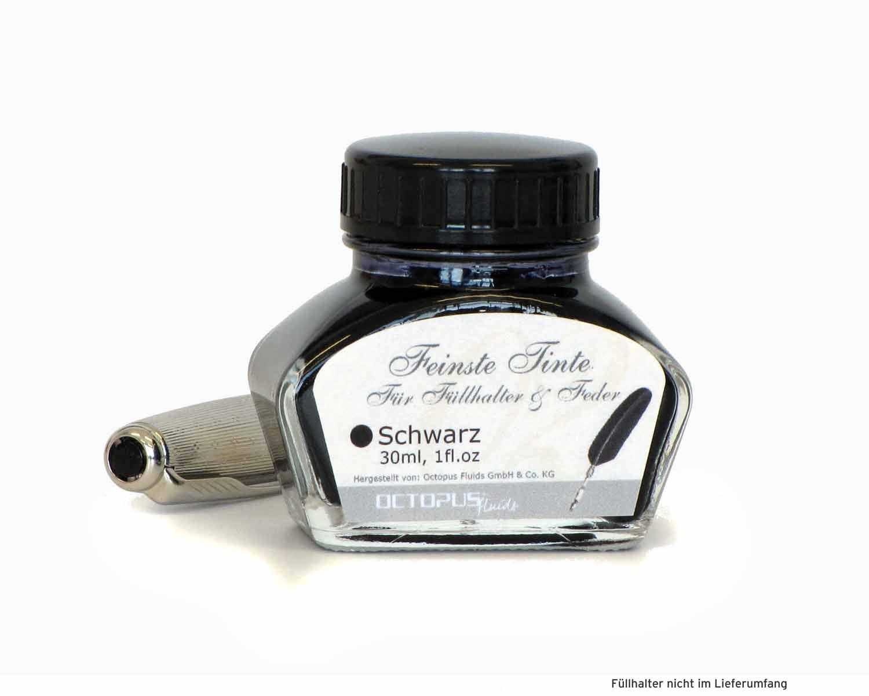 Feinste Schreibtinte für Füllhalter und Schreibfedern, Schwarz