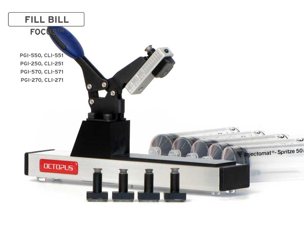 Fill Bill FOCUS CP550 for Canon PGI-550, 570, 580 CLI-551, 571, 581 cartridges