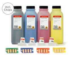 Kit di toner a colori Xerox Phaser 6000, 6010, WorkCentre 6015 con imbuti e chip