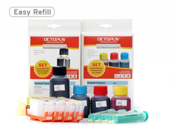 HP 364, HP 920 refill cartridges with ink refill kits and supplies