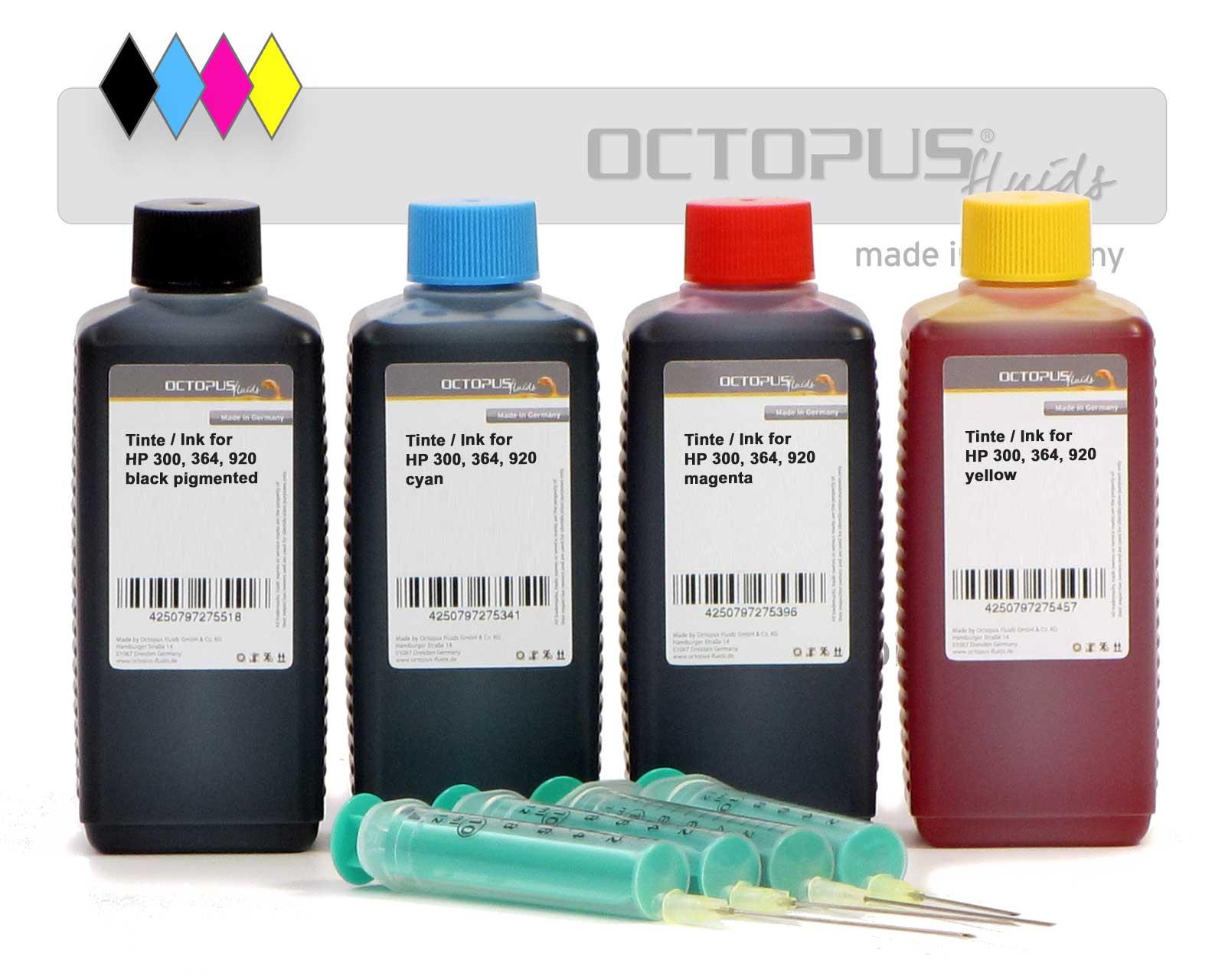 Set di inchiostri di ricarica per HP 300, HP 364, HP 920, quattro colori