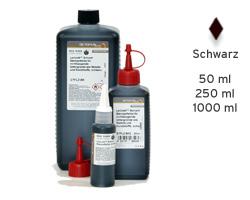 Lenizett Solvent Stempelfarbe für glatte Untergründe, schwarz
