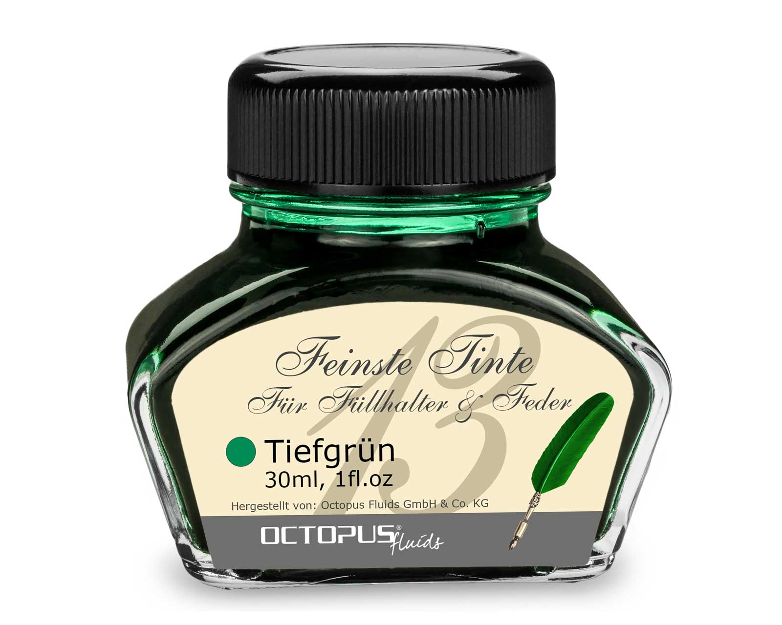 Fountain pen ink, writing ink for fountain pen, fountain pen ink Deep Green