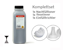 Set Brother TN-1050, HL-1110 Tonerpulver inkl. Reset Hebel und Trichter