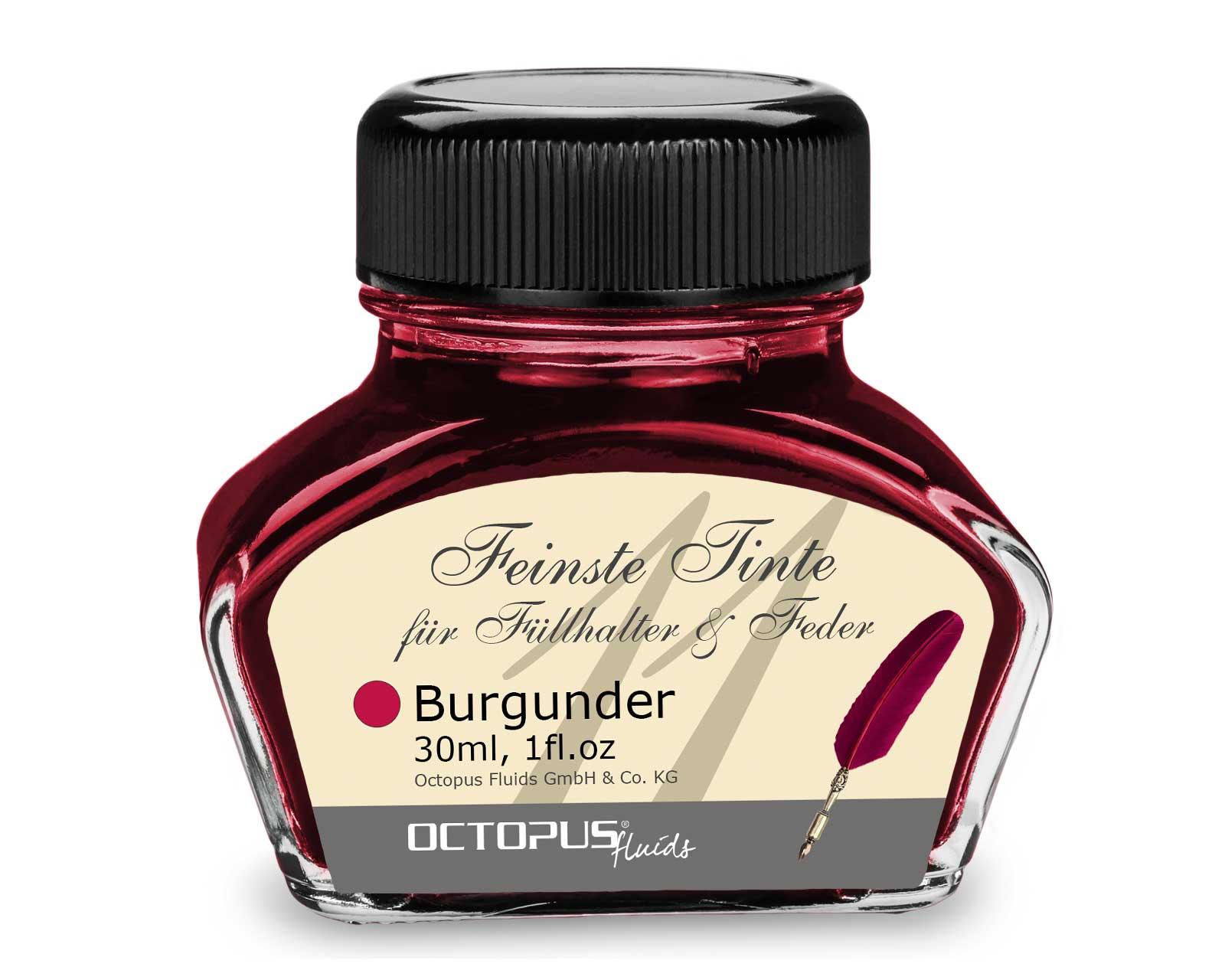 Feinste Schreibtinte für Füllhalter und Schreibfedern, Burgunder