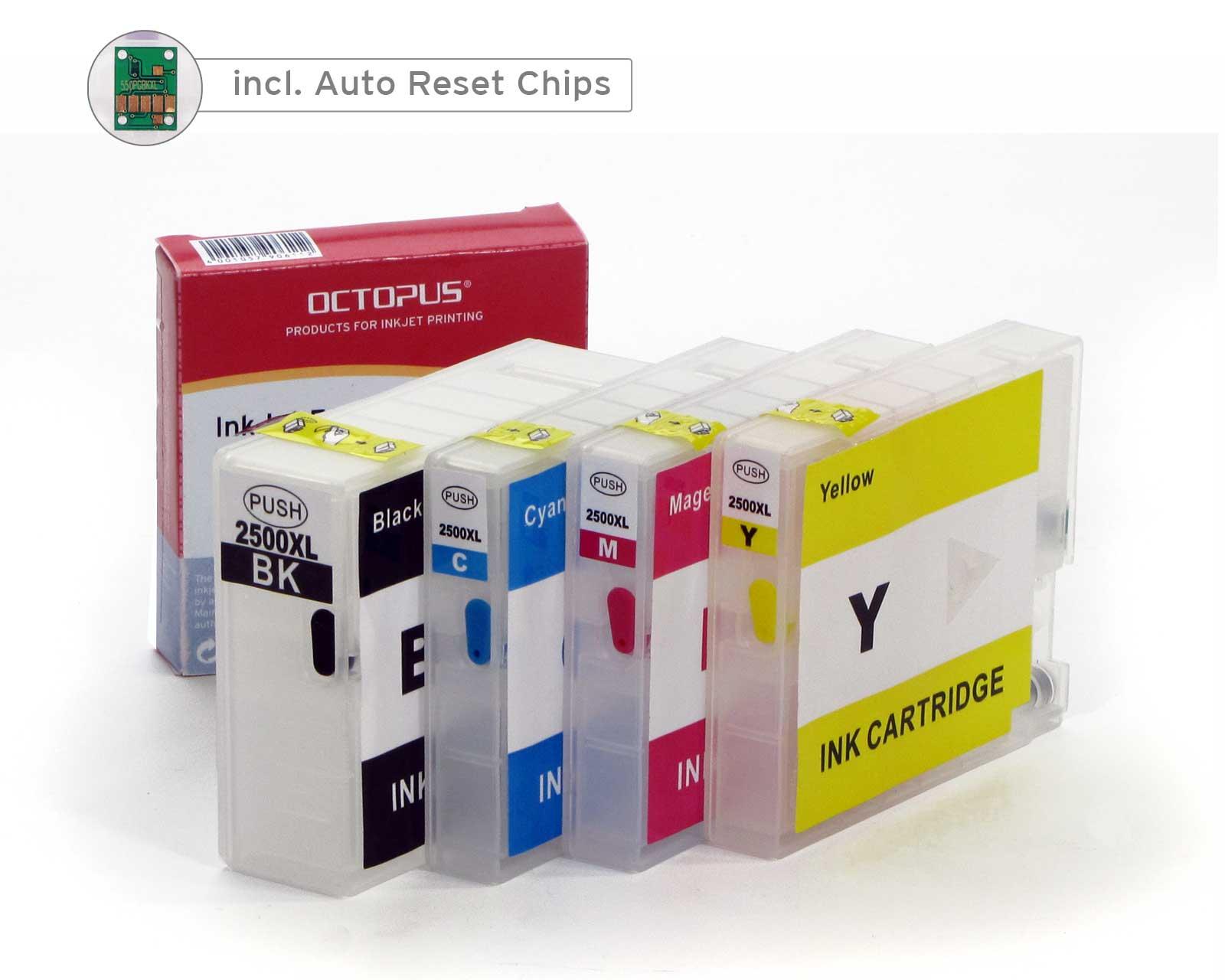 Cartucce ricaricabili Fill In per Canon PGI-2500, con chip