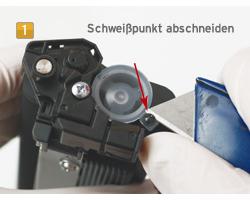 Set Brother TN-1050, HL-1110 Tonerpulver inkl. Reset Hebel und Trichter