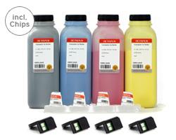 Farbtoner Epson AcuLaser C 2800 incl. Chips, Entwickler, Trichter