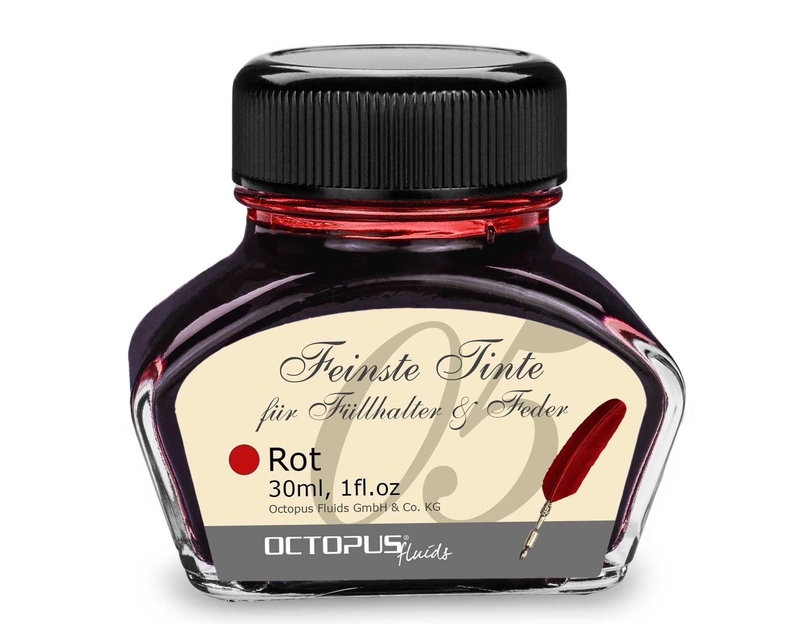 Füllhaltertinte, Schreibtinte für Füllhalter, Füllertinte Rot