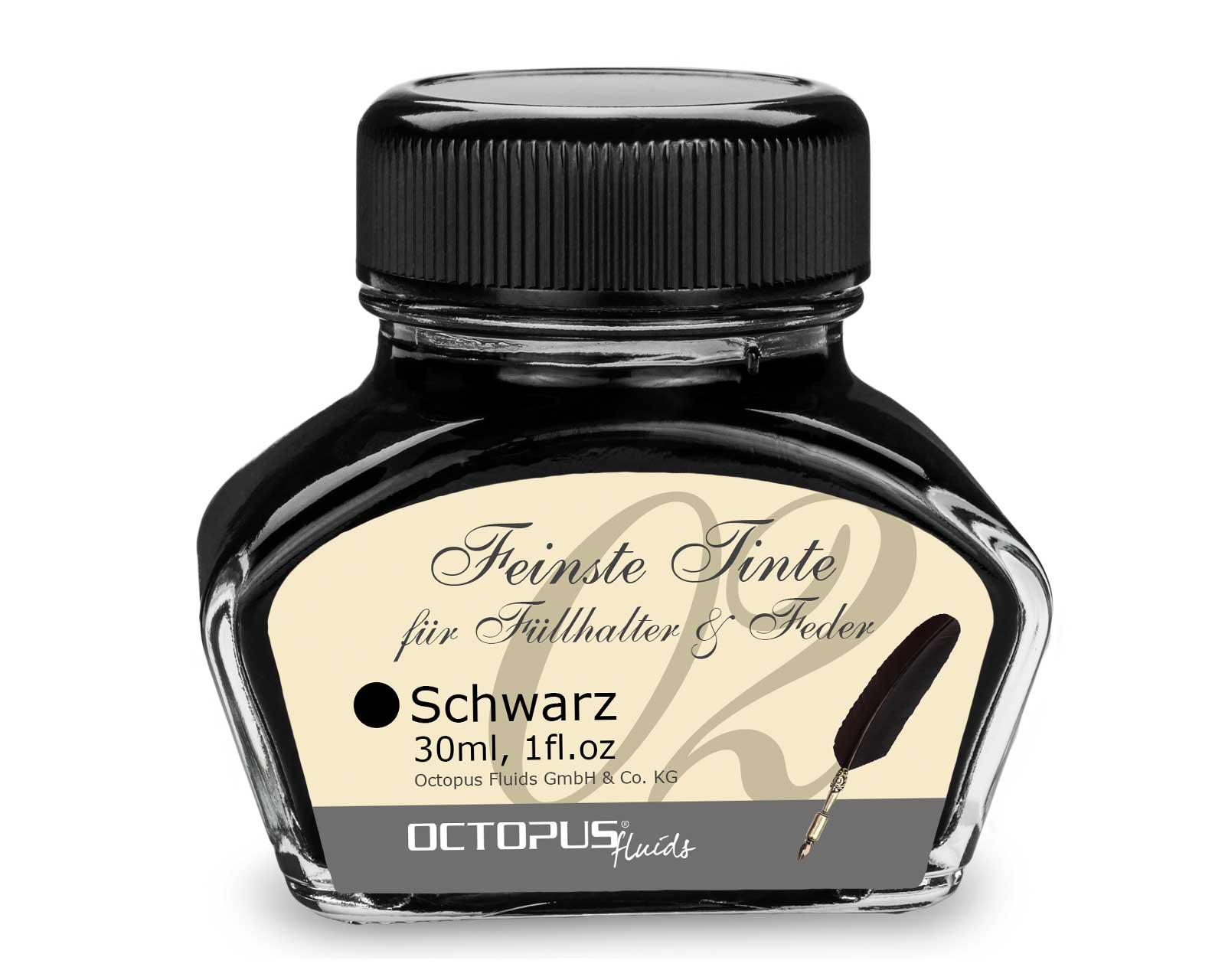 Füllhaltertinte, Schreibtinte für Füllhalter, Füllertinte Schwarz