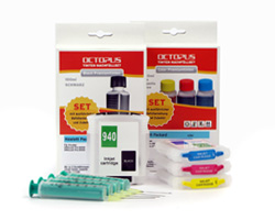Refillable Ink Cartridges (Kit) for HP 940 with Ink Refill Kits