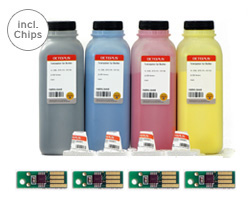 Farbtoner Set Epson Aculaser C 2900, CX 29 inkl. Chips, Trichter, Komplettset