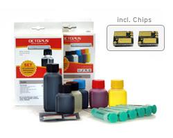 Kit di ricarica per Kodak 10 con chip ed inchiostro di ricarica