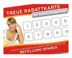 Treuerabattkarte für Kundenbindung, rotes Design