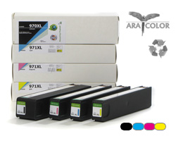 Set of remanufactured ARA COLOR HP 970, 971 XL cartridges, OfficeJet PRO X (non OEM)