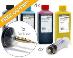 Refill Kit für HP 970, 971 mit QU-Fill, Nachfülltinte, 4x Spritzen