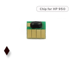 Chip für HP 950, CN049AE Druckerpatrone schwarz