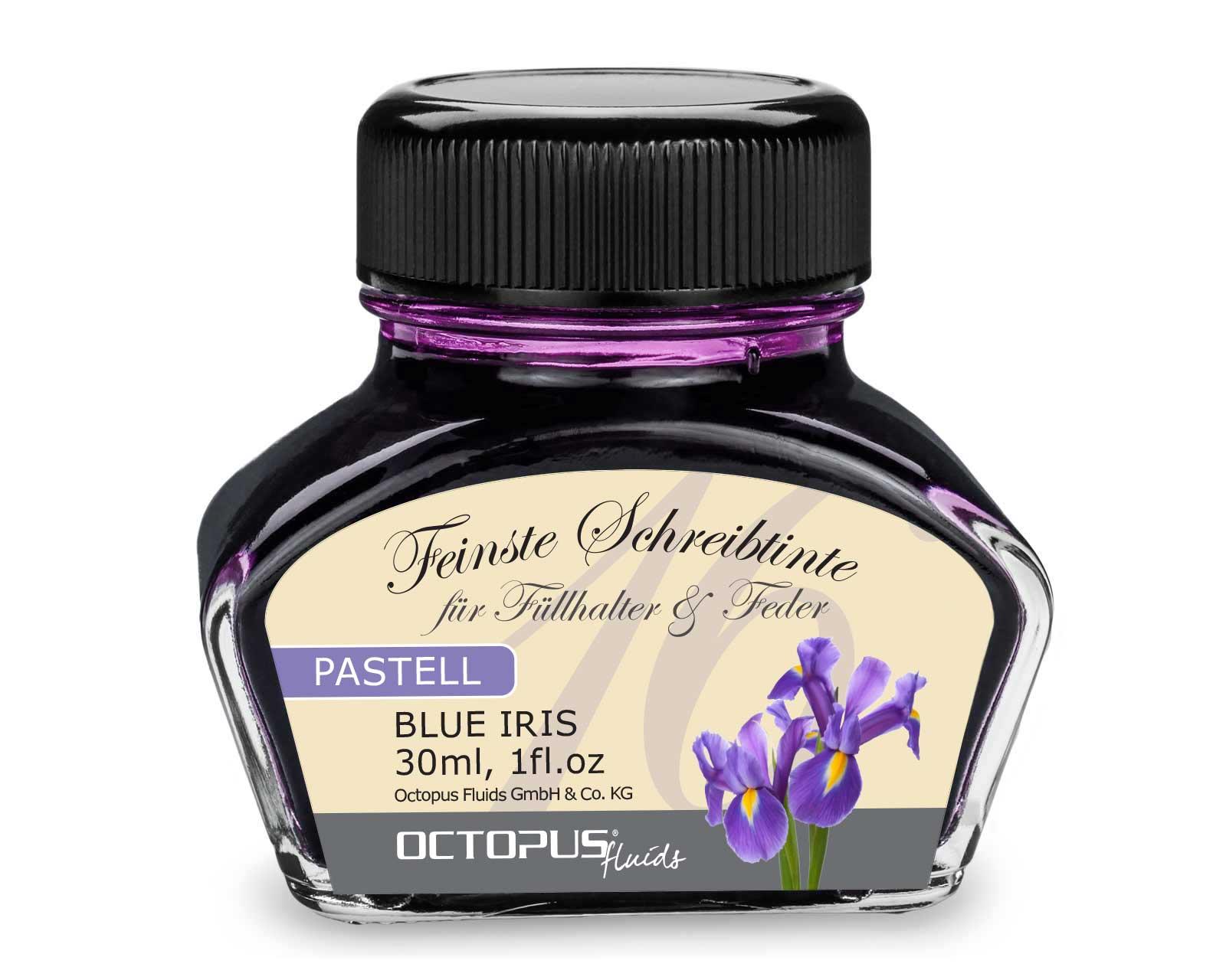 """Füllhaltertinte, Schreibtinte für Füllhalter, Füllertinte Pastell Violett """"Blue Iris"""""""