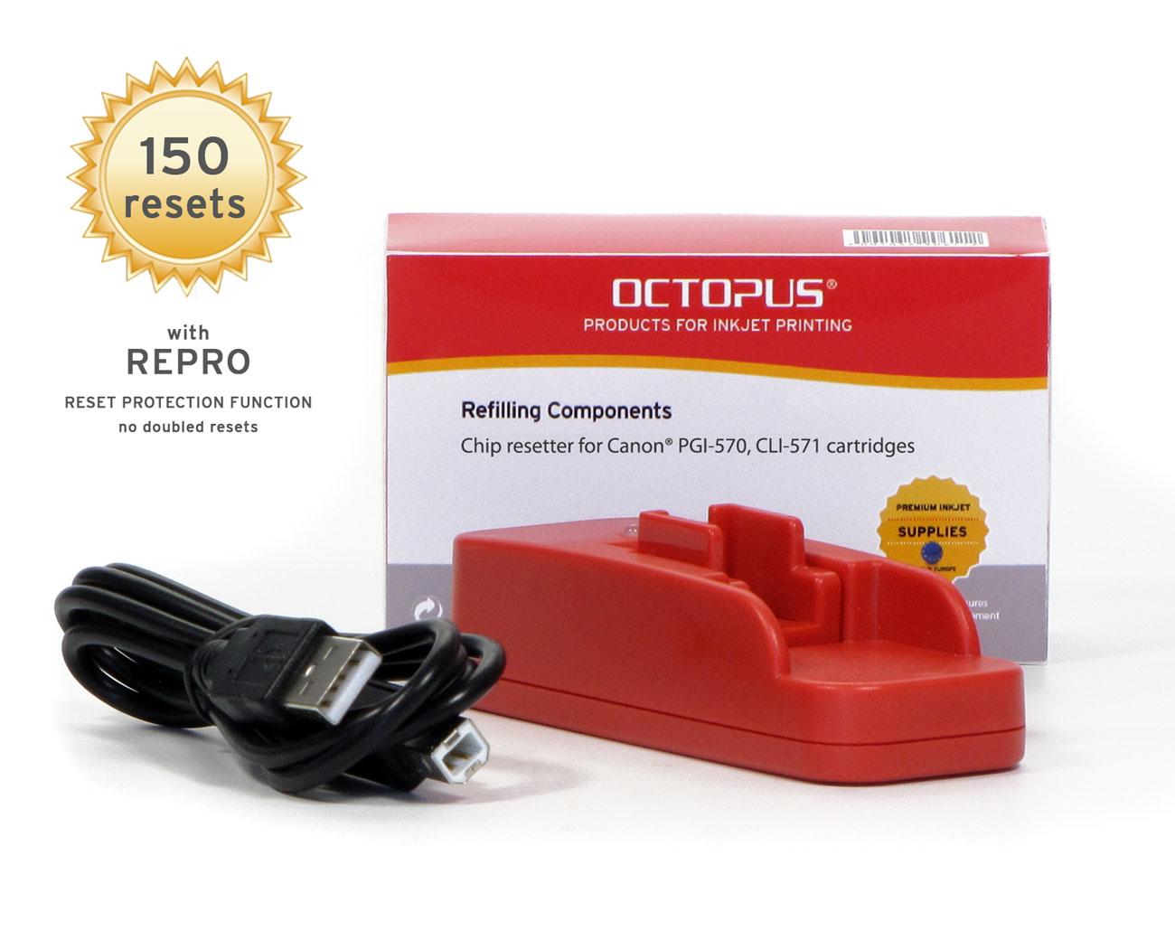 Chipresetter for Canon PGI-570, CLI-571 inkjet cartridges, for 150 Resets