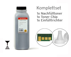 Toner refill kit Samsung ML 2160, 2165, 2168 incl. chip and funnel
