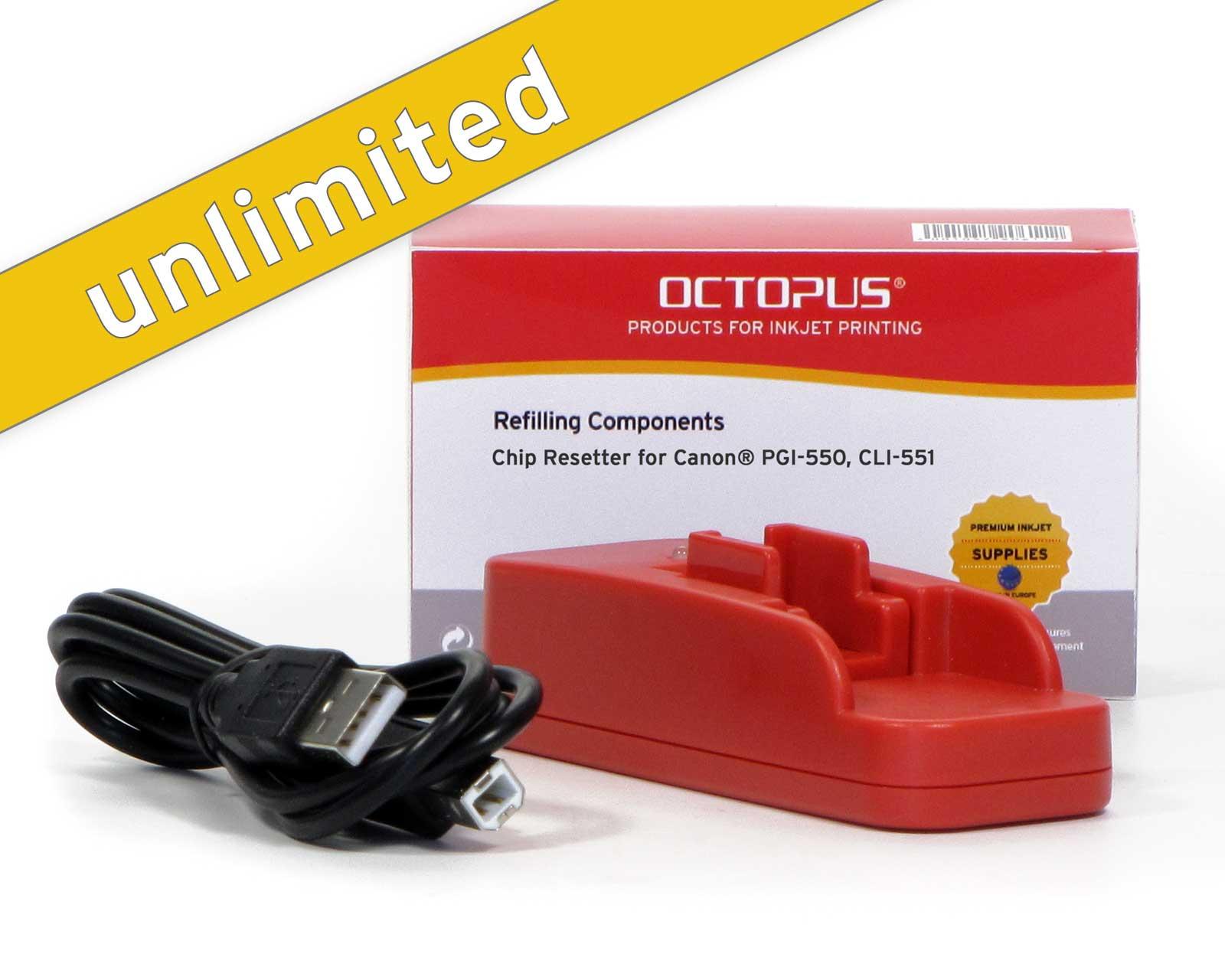 Chip Resetter per Canon PGI-550, CLI-551 con USB