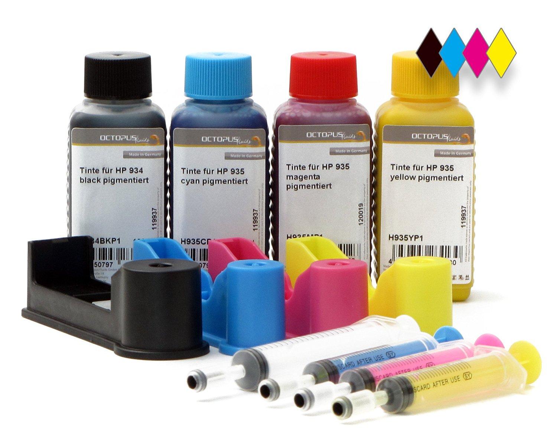 Komplettset Refilladapter für HP 934, HP 935, vier Tinten