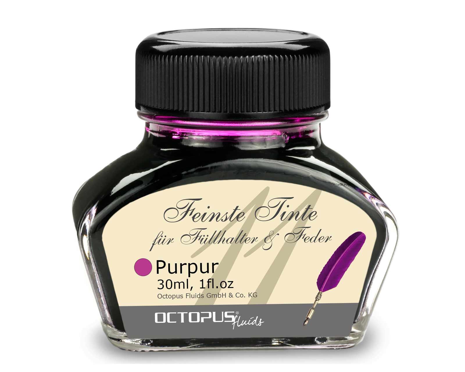 Feinste Schreibtinte für Füllhalter und Schreibfedern, Purpur