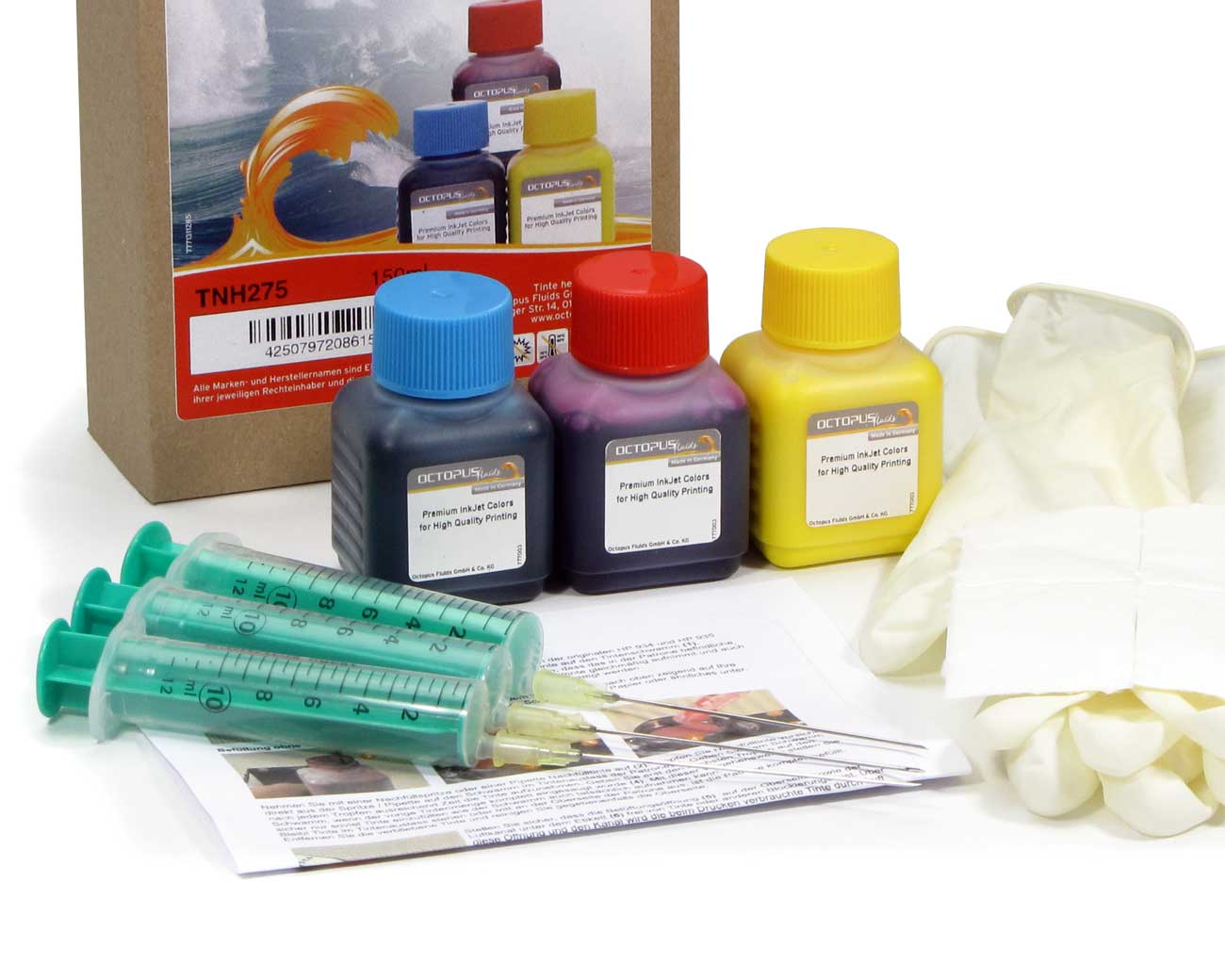 Ink refill kit for Canon CLI-521 color
