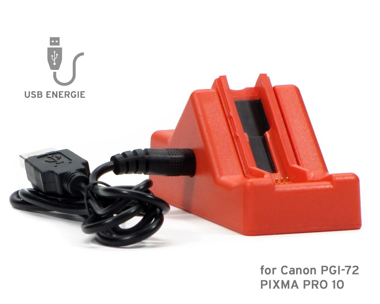 Chip resetter per cartucce Canon PGI-72 con alimentazione USB
