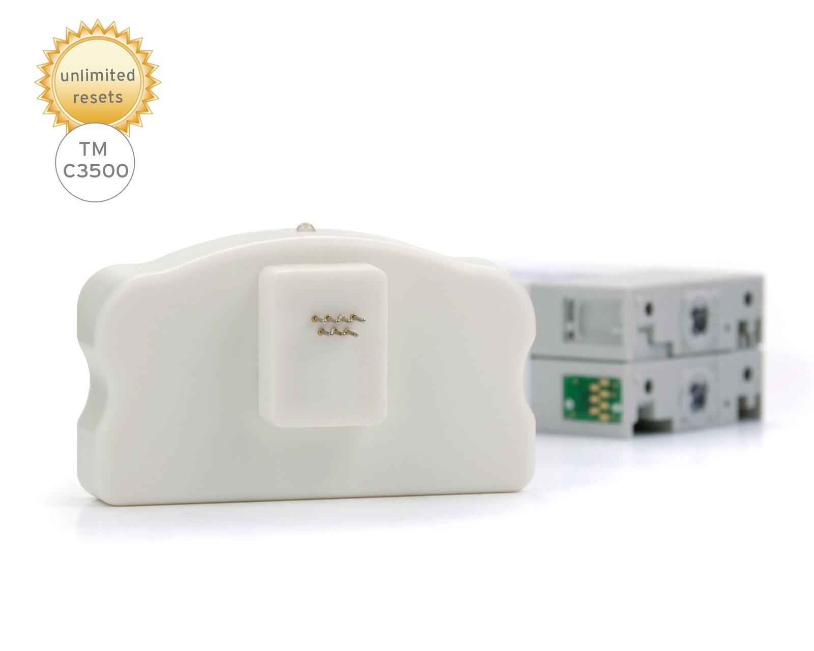 Chipresetter für Etikettendrucker Epson ColorWorks TM-C3500, Epson SJI-C-22-P Druckerpatronen