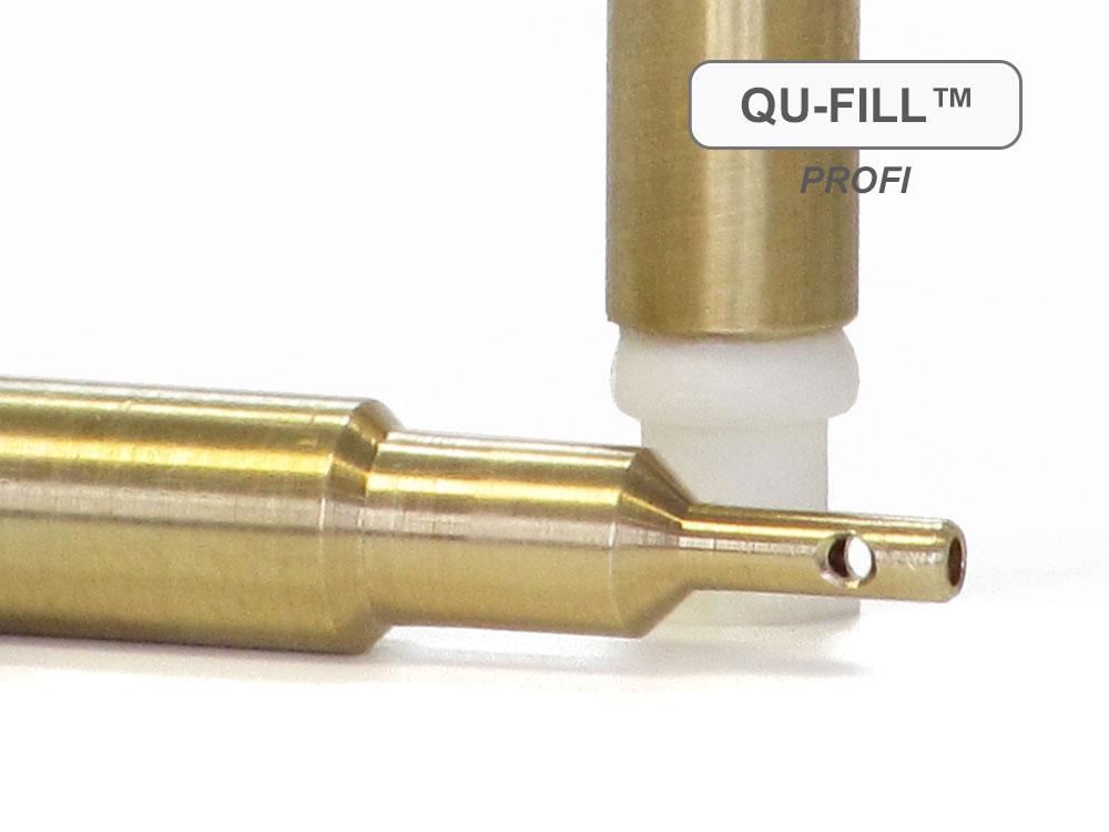 QU-Fill™ PROFI per la ricarica di HP® 932, 950, 953, 970, 980 in ottone con valvola a sf