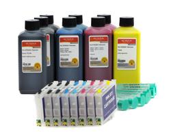 Fill In Patronen T0591-T0595 mit 8x Tinte (kein OEM) ersetzt Epson
