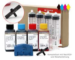 Set Brother LC-223, 225, 227, 229, Resetter, BroLuer, 4x Tinte